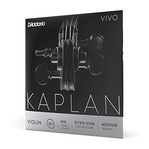 D'Addario KV310 4/4M Medium Tension 4/4 Scale Kaplan Vivo Violin String Set from D'Addario