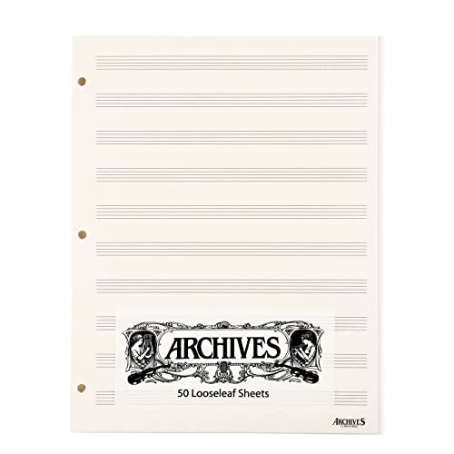 Archives Looseleaf Manuscript Paper, 10 Stave, 50 Pages from D'Addario