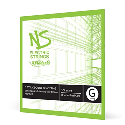 D'Addario NS Electric 3/4 Scale Medium Tension Single G String for Contemporary Bass from D'Addario