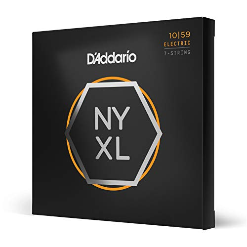 D'Addario NYXL1059 Nickel Wound Strings for 7-String Electric Guitar from D'Addario