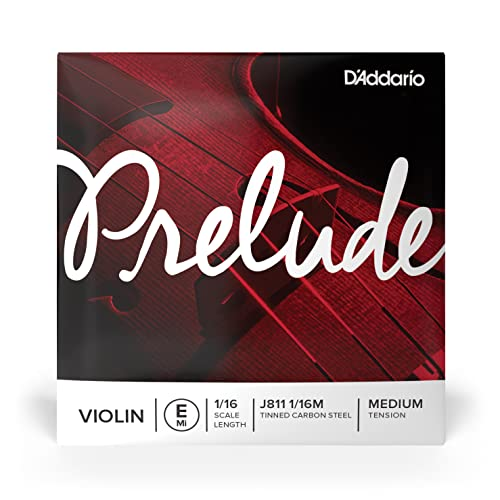 D'Addario Prelude Violin Single E String, 1/16 Scale, Medium Tension from D'Addario