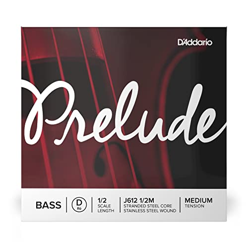 D'Addario Prelude 1/2 Scale Medium Tension Single D String for Bass Guitar from D'Addario
