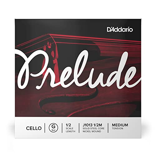 D'Addario Prelude 1/2 Scale Medium Tension Single G String for Cello from D'Addario