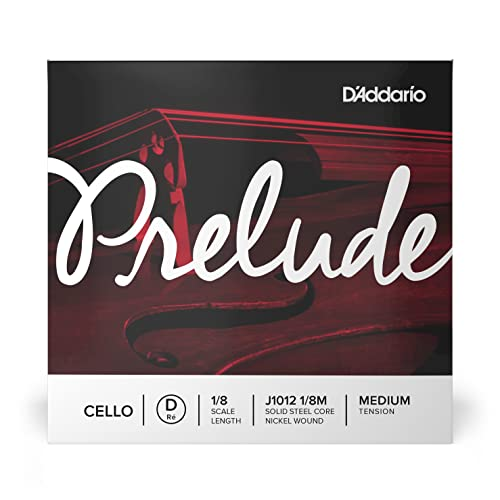 D'Addario Prelude 1/8 Scale Medium Tension Single D String for Cello from D'Addario