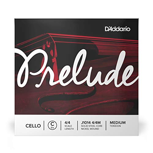 D'Addario Prelude 4/4 Scale Medium Tension Single C String for Cello from D'Addario