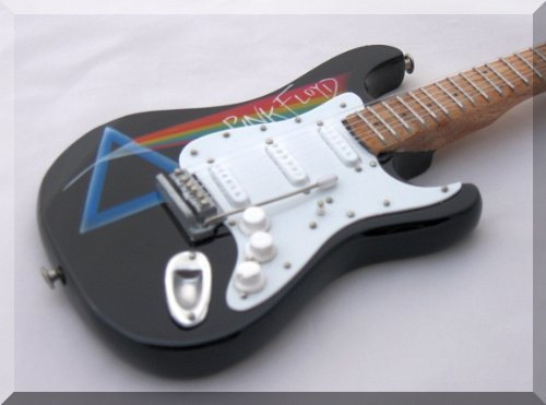 DAVID GILMOUR Miniature Mini Guitar Pink Floyd off the wall from ARTSTUDIO35