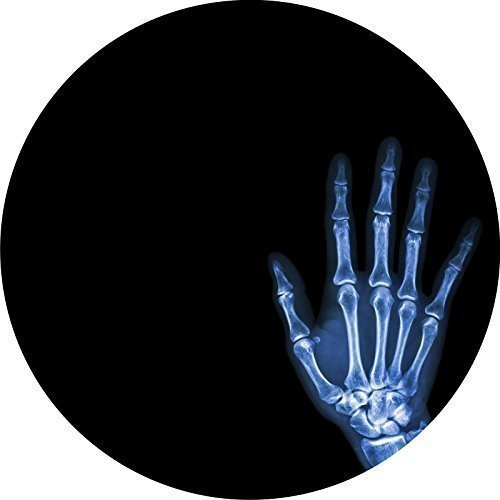 DJ Record Slipmats X-RAY HAND DESIGN Slipmat x 1 (Single) birthday funny gift for him for her from 123t Slipmats