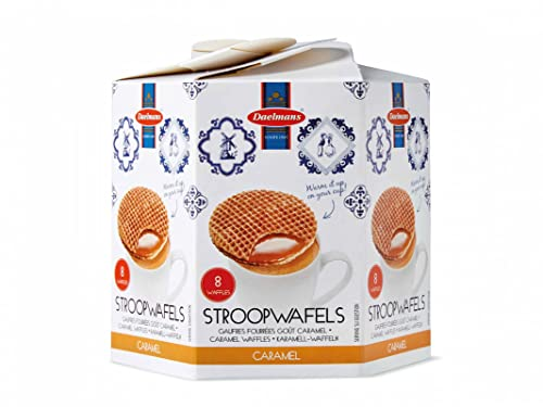 Daelmans Stroopwafels | Caramel Stroopwaffles | Caramel Wafers - 230 g per hexa box - Warm it up on your cup - Great small gift for friends, family & colleagues from Daelmans