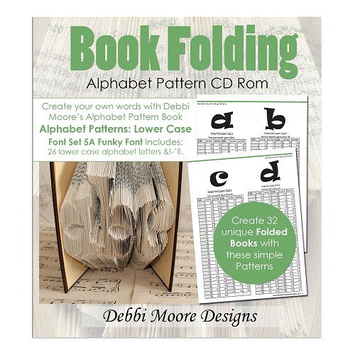Debbi Moore Book Folding Alphabet Pattern Font Set 5A Lower Case CD Rom (325528) from Debbi Moore