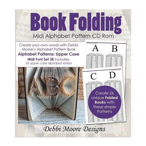 Debbi Moore Book Folding Alphabet Pattern Midi Font Set 3B Upper Case CD 324651 from Debbi Moore Designs