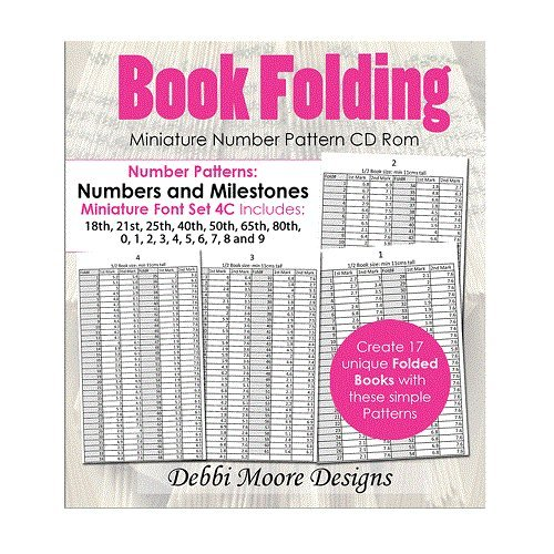 Debbi Moore Book Folding Miniature Font Set 4C Numbers & Milestones CD (326174) from Debbi Moore