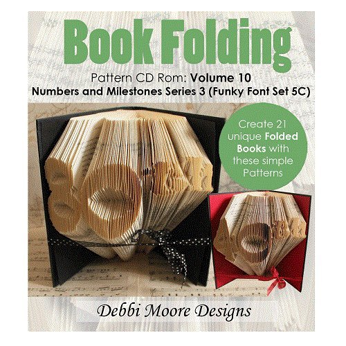 Debbi Moore Book Folding Volume 10 Numbers & Milestones Series 3 (Funky Font Set 5C) (325634) from Debbi Moore