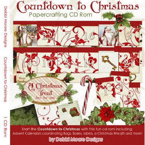 Debbi Moore Countdown To Christmas Papercrafting CD Rom (321223) from Jackdaw Express