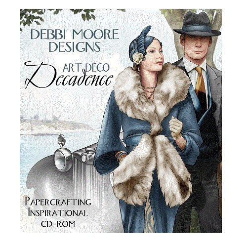 Debbi Moore Designs Art Deco Decadence Papercrafting CD Rom (324637) from Debbi Moore