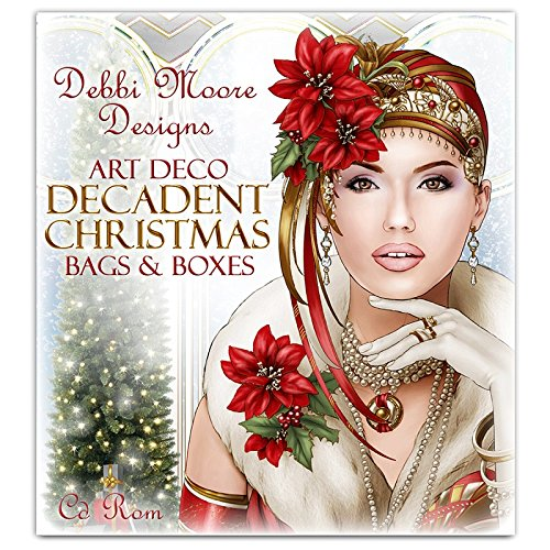 Debbi Moore Designs Art Deco Decadent Christmas Bags & Boxes CD Rom (326549) from Debbi Moore
