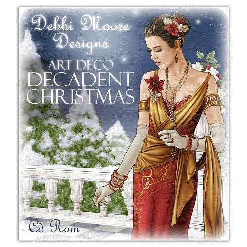 Debbi Moore Designs Art Deco Decadent Christmas CD Rom (326181) from Debbi Moore