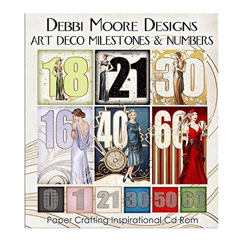 Debbi Moore Designs Art Deco Milestones & Numbers CD Rom (326280) from Debbi Moore