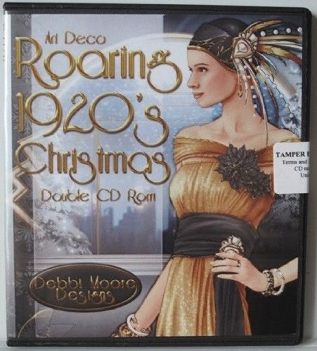 Debbi Moore Designs Art Deco Roaring 1920's Christmas Double CD Rom (294692) from Jackdaw Express