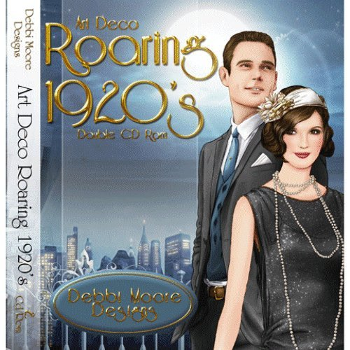 Debbi Moore Designs Art Deco Roaring 1920's Double CD Rom (294623) from Jackdaw Express