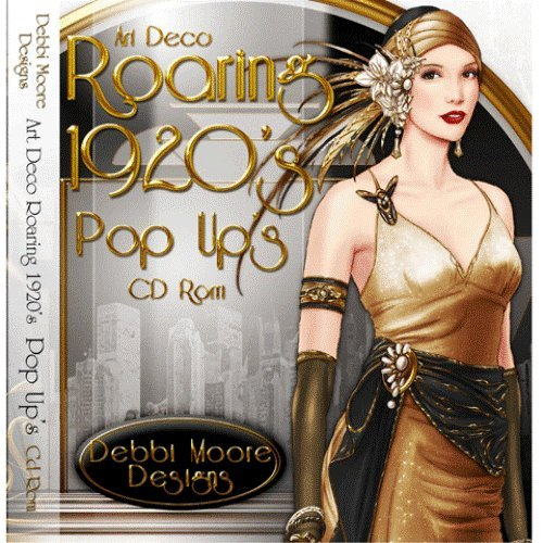 Debbi Moore Designs Art Deco Roaring 1920's Pop Up's CD Rom (294647) from Jackdaw Express
