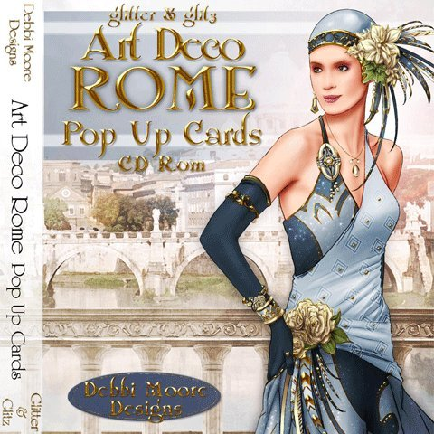 Debbi Moore Designs Art Deco Rome Pop Up Cards CD Rom (292315) from Jackdaw Express