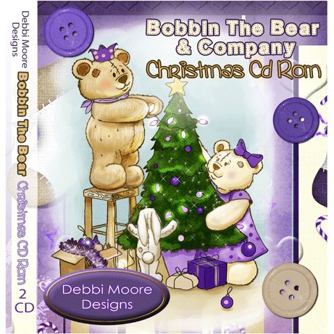 Debbi Moore Designs Bobbin The Bear & Company Christmas Double CD Rom (293879) from Jackdaw Express