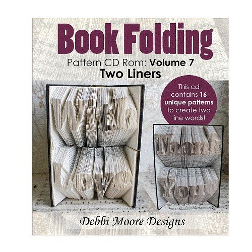 Debbi Moore Designs Book Folding Pattern Volume 7 (Two Liners) CD Rom (324736) from Debbi Moore