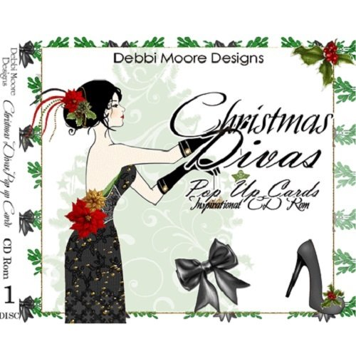 Debbi Moore Designs Christmas Divas Pop Up Cards Inspirational CD Rom 297631 from Jackdaw Express