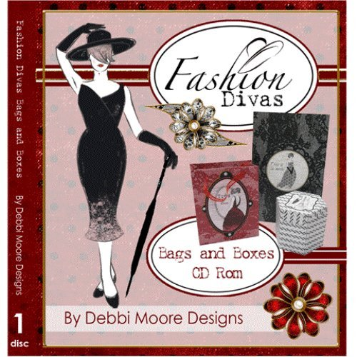 Debbi Moore Designs Fashion Divas Bags & Boxes CD Rom (294814) from Jackdaw Express