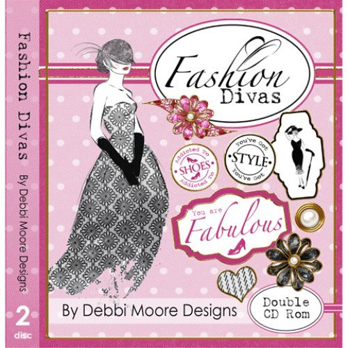 Debbi Moore Designs Fashion Divas Double CD Rom (294777) from Jackdaw Express