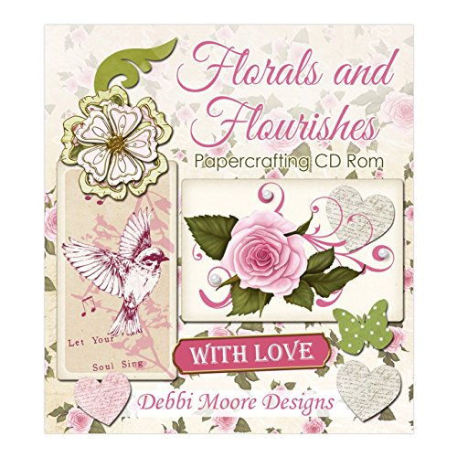 Debbi Moore Designs Florals and Flourishes Papercrafting CD Rom (324279) from Debbi Moore