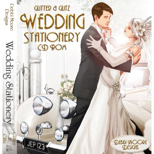 Debbi Moore Designs Glitter & Glitz Wedding Stationery Double CD Rom 293275 from Jackdaw Express