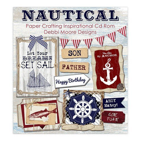 Debbi Moore Designs Nautical Paper Crafting Inspirational CD Rom (326235) from Debbi Moore
