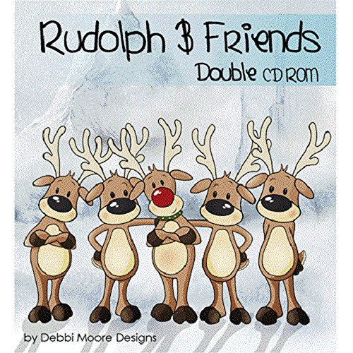 Debbi Moore Designs Rudolph & Friends Double CD Rom (291356) from Jackdaw Express