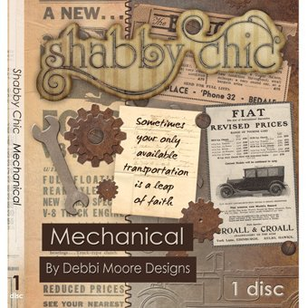 Debbi Moore Designs Shabby Chic Mechanical CD Rom (293701) from Jackdaw Express