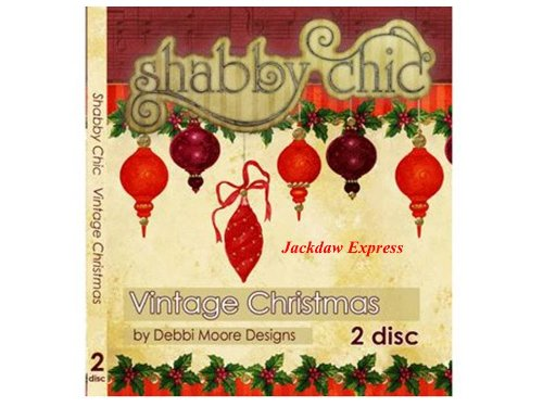 Debbi Moore Designs Shabby Chic Vintage Christmas Double CD Rom (293718) from Jackdaw Express