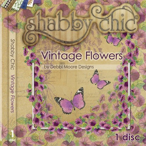 Debbi Moore Designs Shabby Chic Vintage Flowers CD Rom (290915) from Jackdaw Express
