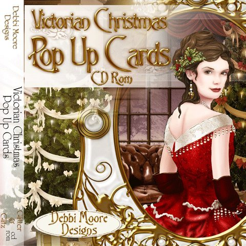 Debbi Moore Designs Victorian Christmas Pop Up Card CD Rom (293671) from Jackdaw Express