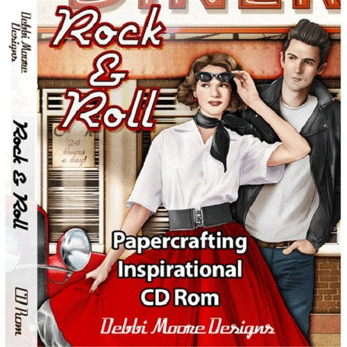 Debbi Moore Rock & Roll Papercrafting Inspirational CD Rom 320349 from Jackdaw Express