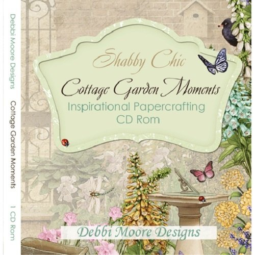 Debbi Moore Shabby Chic Cottage Garden Moments Inspirational Papercrafting CD Rom (320714) from Jackdaw Express