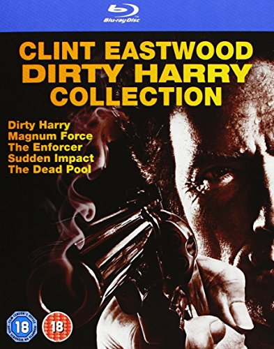 Dirty Harry Complete Movies Film Collection [6 Discs] Blu Ray Boxset: Dirty Harry / Magnum Force / Enforcer / Sudden Impact / Dead Pool + Extras from Warner Home Video