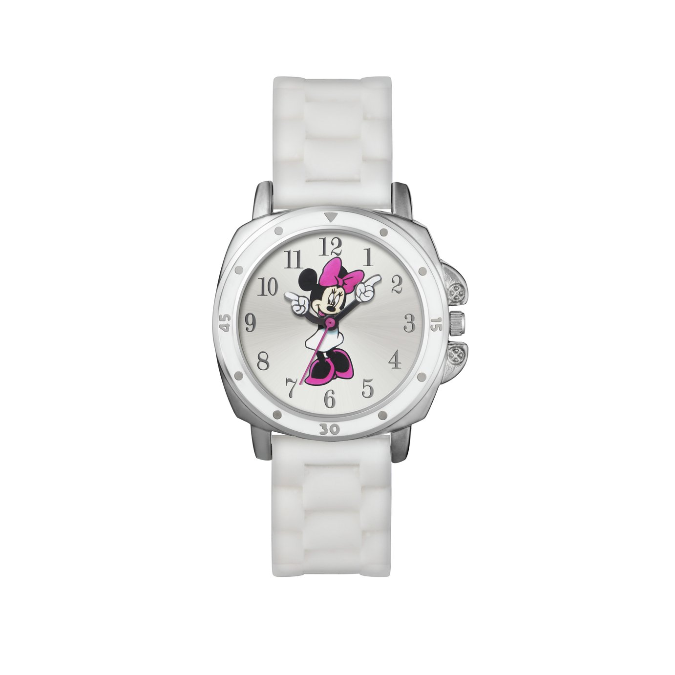 Disney Minnie Mouse White Dial and Silicone Strap Watch from Disney