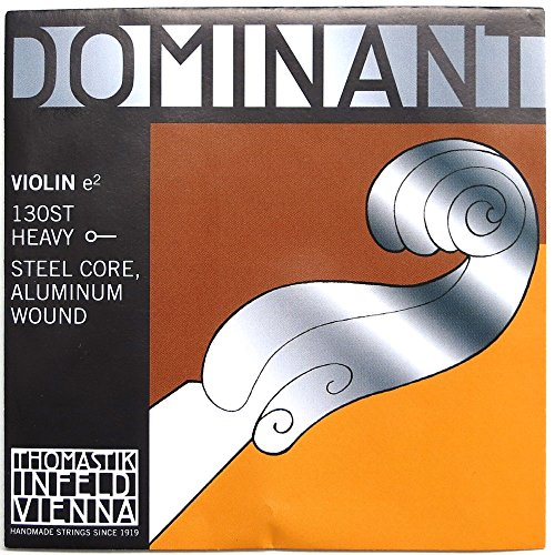 Thomastik Single string for Violin 4/4 Dominant - E-string steel core, Aluminium Wound, Strong, Ball End from Thomastik