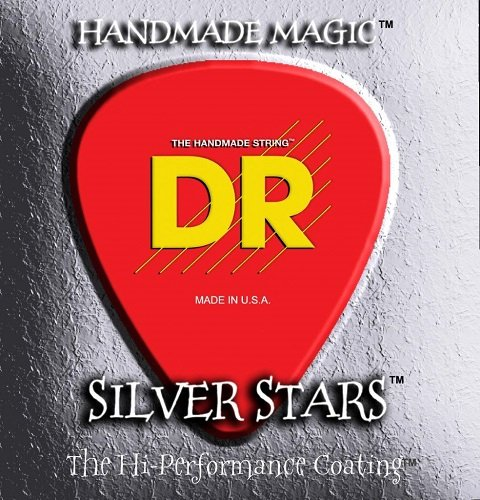 DR Strings SIA11 11-50 Medium Lite Set Handmade Silver Star Coated Acoustic Strings from DR