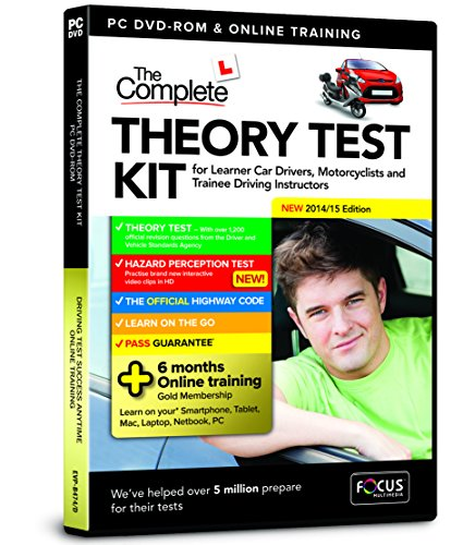 Driving Test Success Complete Theory Test for Car Drivers, Motorcyclists and Trainee Driving Instructors 2014/15 Edition (DVD) from FOCUS MULTIMEDIA