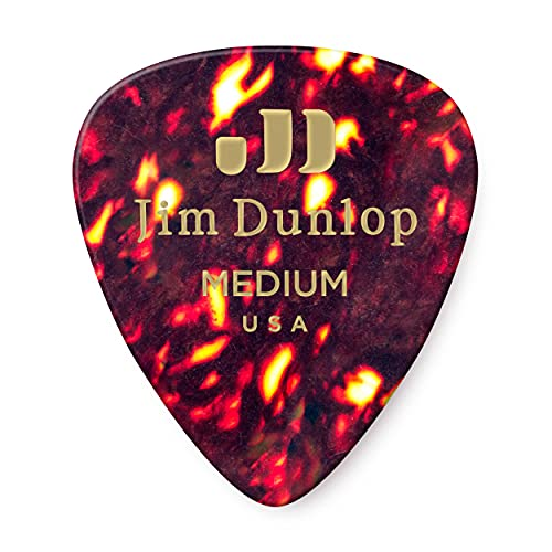 Dunlop 483R05MD Genuine Celluloid, Shell, Medium, 72/Bag from Jim Dunlop