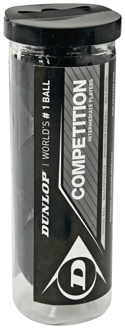 Dunlop Competition 3 Squash Ball Tube from Dunlop