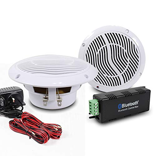 E-Audio Bluetooth Ceiling Speaker Kit Bathroom Wireless Bluetooth Amplifier Water Resistant Ceiling Speakers (2 Way) from E-Audio