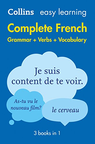 Easy Learning French Complete Grammar, Verbs and Vocabulary (3 books in 1) (Collins Easy Learning French) from Collins