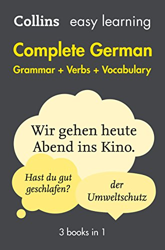 Easy Learning German Complete Grammar, Verbs and Vocabulary (3 books in 1) (Collins Easy Learning German) from Collins